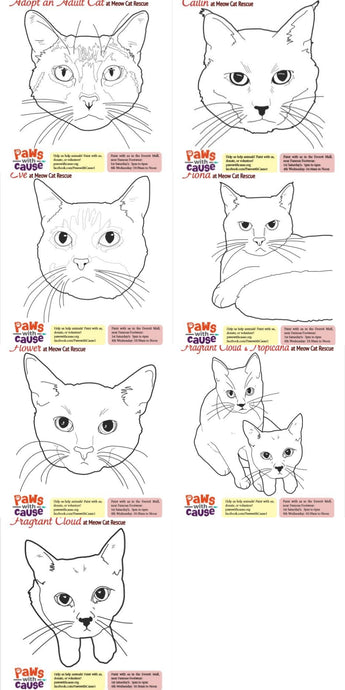 Meow Cat Rescue - Color Book Pages