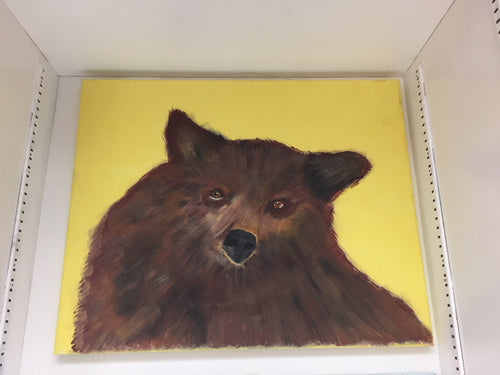Bear with Yellow Background