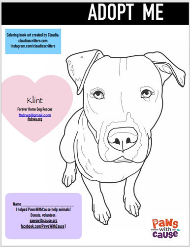 Color Book Page_ Klint_ Forever Home Dog Rescue