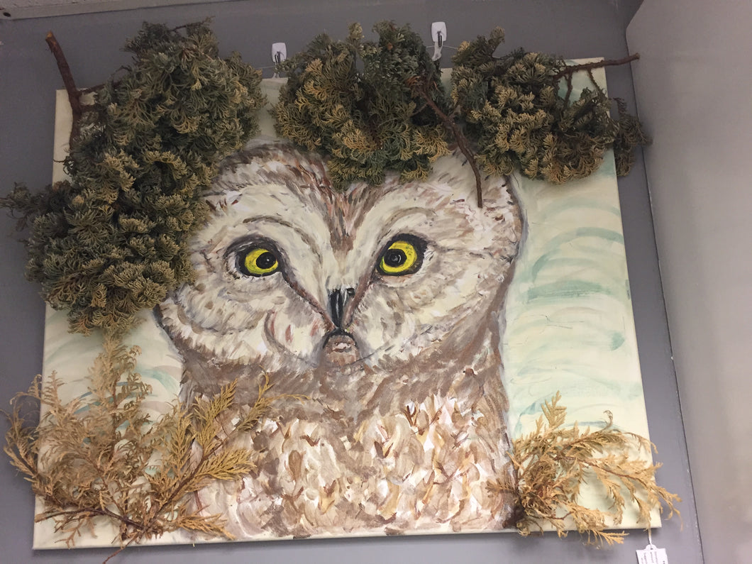 Owl with Trees