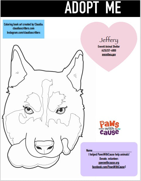 Color Book Page _ Jeffrey_ Everett Animal Shelter