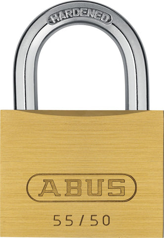 "Abus 55/50 1 15/16"" Wide Brass Padlock"