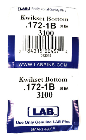LAB 3100 Kwikset #1 Bottom Pins 100 Pack