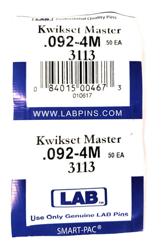 LAB 3113 Kwikset #4 Master Pins 100 Pack