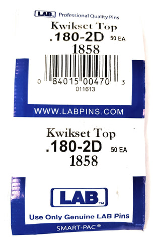 LAB 1858 Kwikset #2 Top Pins 100 Pack