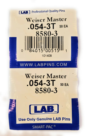 LAB 8580-3 Weiser #3 Master Pins 100 Pack