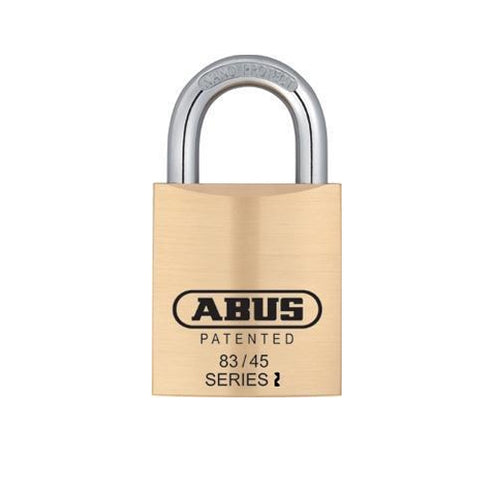 "Abus 83KNK/45 1 3/4"" Wide Rekeyable Brass Padlock Less Cylinder"