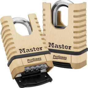 "Master 1177D Pro Series Shrouded 2 1/4"" Wide Resettable Combination Padlock"