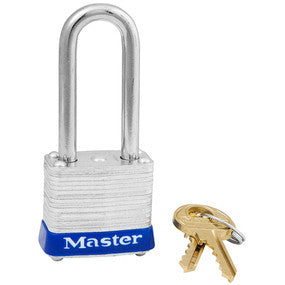 "Master #7LF Laminated Steel 1 1/8"" Wide Padlock"