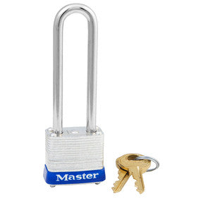 "Master #7LJ Laminated Steel 1 1/8"" Wide Padlock"