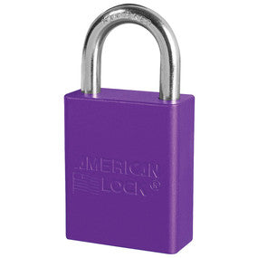 "American A1105PRP Purple 1 1/2"" Wide Aluminum Safety Padlock"