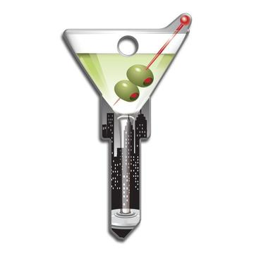 Lucky Line B133 Key Shapes Martini Glass Key Blank