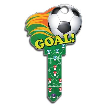 Lucky Line B135 Key Shapes Soccer Key Blank
