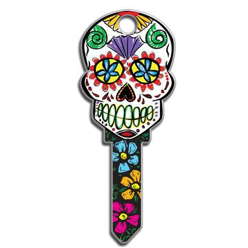 Lucky Line B136 Key Shapes Sugar Skull Key Blank