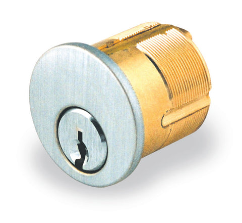 "GMS M114WR3 Weiser E Keyway 1 1/4"" Mortise Cylinder Bright Brass Finish"