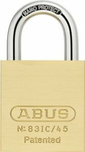 "Abus 83IC/45 1 3/4"" Wide Small Format IC Core Brass Padlock"