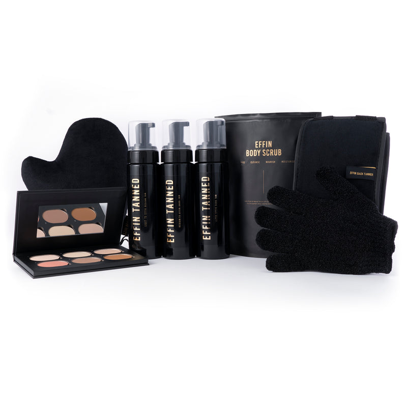 THE EXTREME ULTIMATE BUNDLE! Two ultra dark + medium to dark tan for advanced Effin tanners