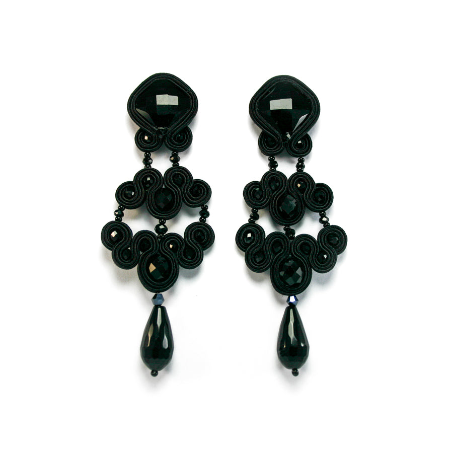Look Bautizo - Pendientes Black is Back