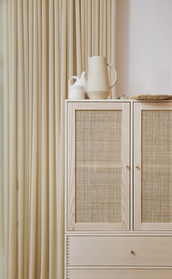 Door Rattan Small  (Natural Rattan) - H33 x W33