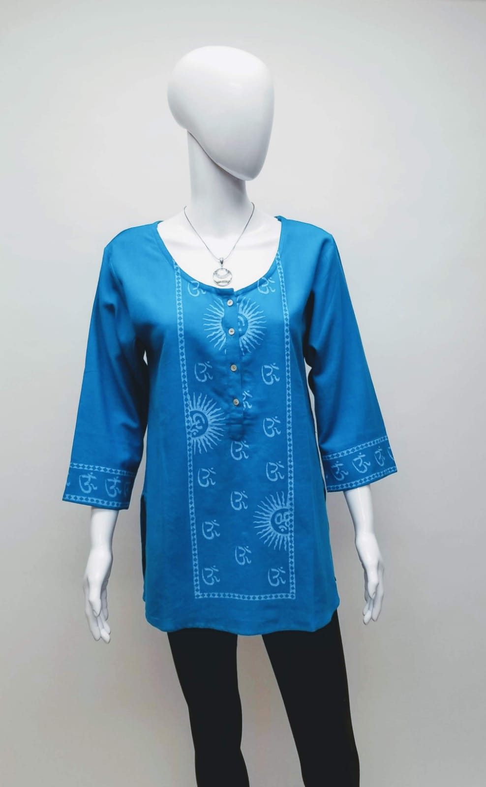 Hand Block Print Cotton Tunic Top