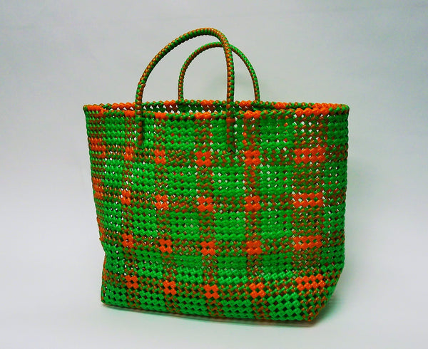 Handmade Beach / Grocery Recycled Plastic Wire Tote Bag