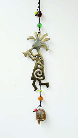 Kokopelli Beads & Bell Chime