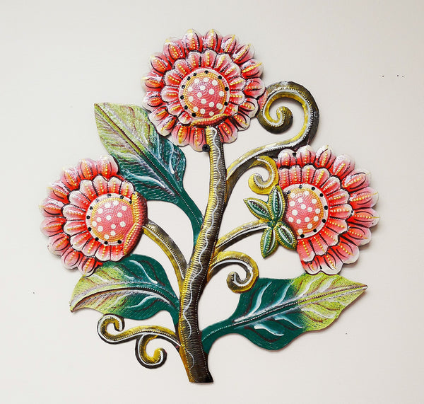 Handmade Flower Metal Wall Decoration