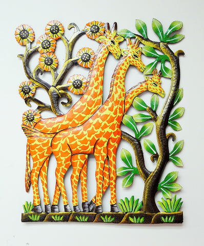 Handmade Painted Giraffe Tower