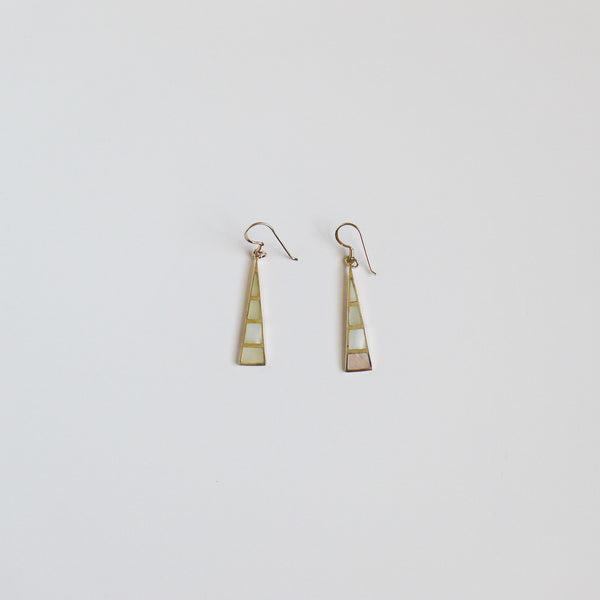Sterling Silver Mother of Pearl Earrings