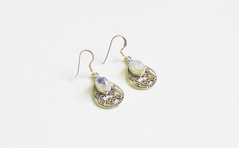 Sterling Silver Moonstore Earrings