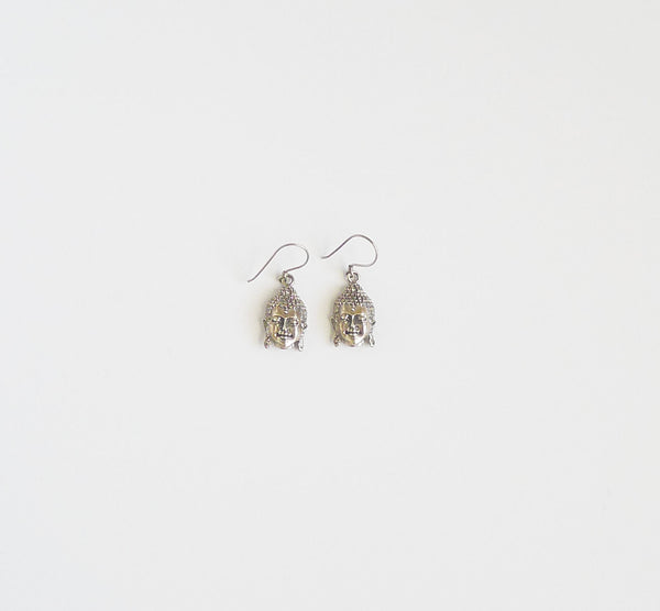 Sterling Silver Buddha Earrings
