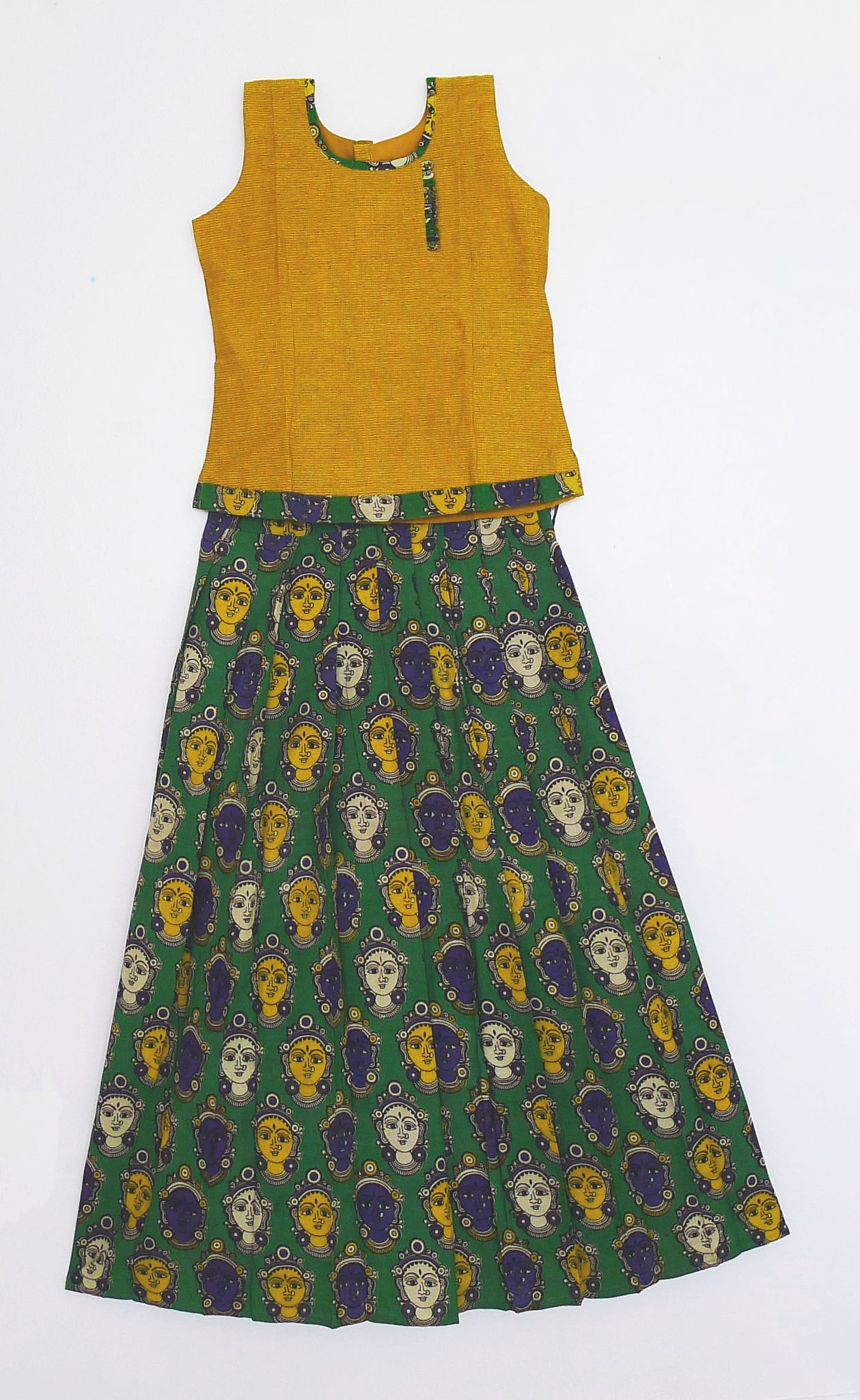 Kalamkari Top & Skirt 14 - 15 Year Old