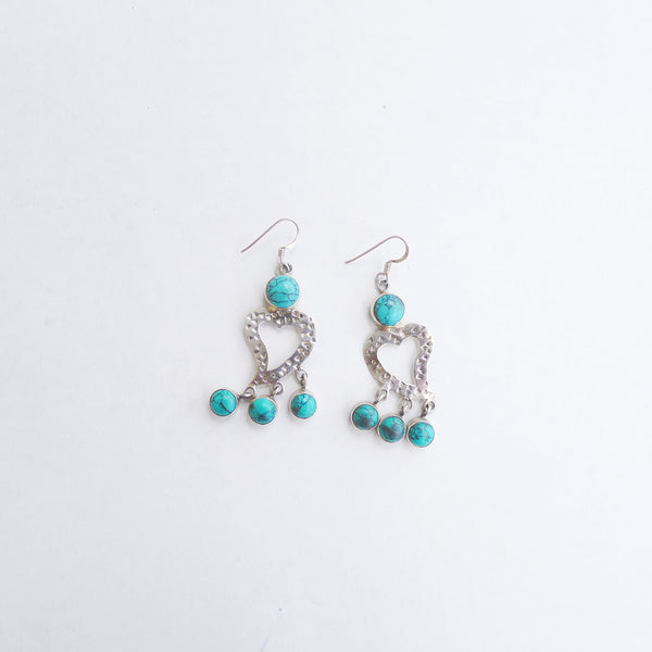 Sterling Silver Blue Turquoise Earrings