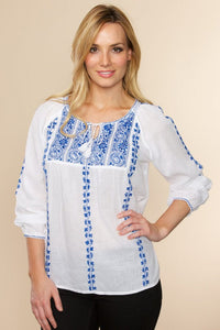 Hand Embroidered Blue Tunic