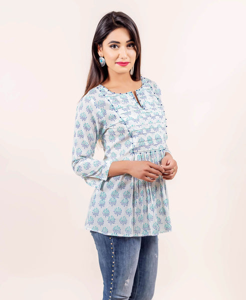 Elegant Pure Cotton Tunic