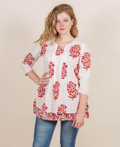 Hand Block Print Tunic Top