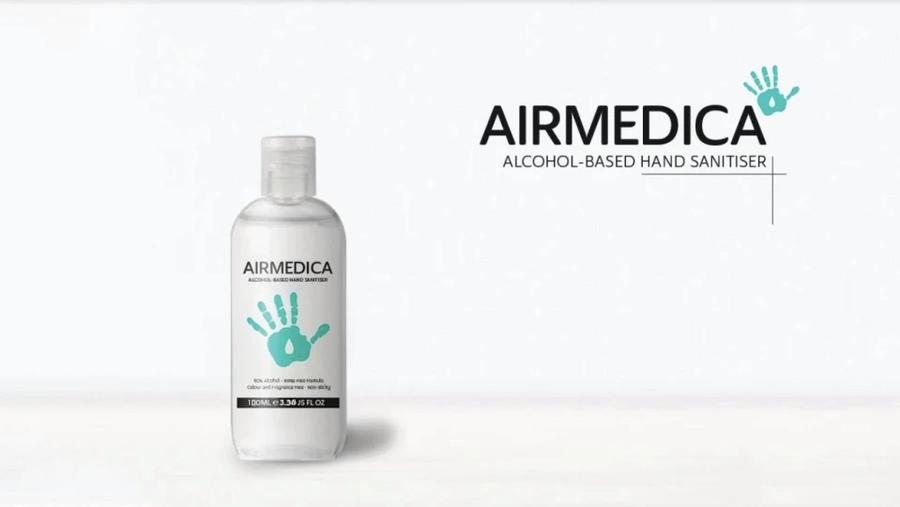 100ml AirMedica Hand Sanitiser - Everyday Essentials buy hand sanitizer online alcohol based hand sanitiser hand sanitiser ireland alcohol gel hand sanitizer