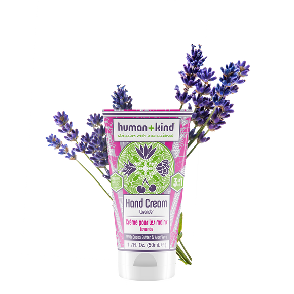 Human & Kind 50ml Hand Cream Lavender  skin care products ireland- Everyday Essentials