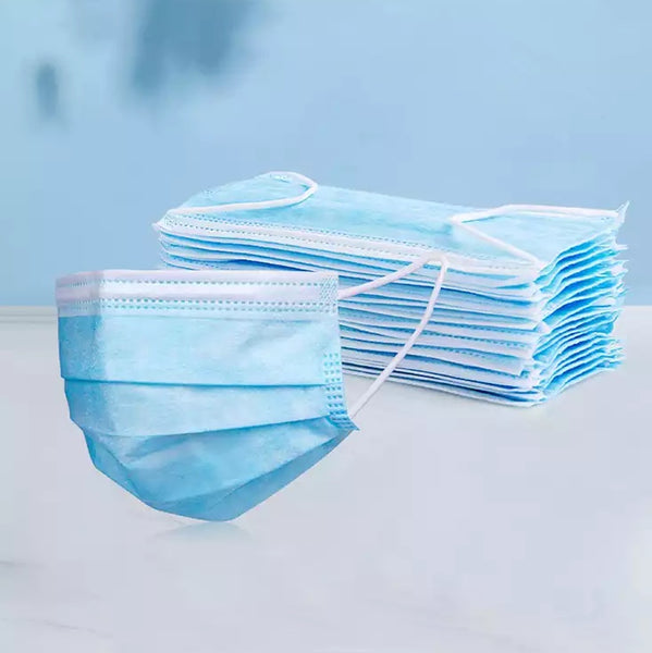 Disposable 3-Ply Face Masks - Box of 50 -3-Ply Face Masks , surgical face mask Ireland, disposable face mask Ireland, face mask Ireland- Everyday Essentials
