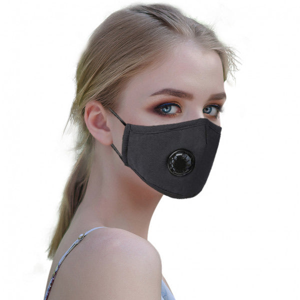 Fashion Reusable/Washable Cotton Face Mask With Valve