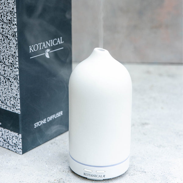 Kotanical White Stone Oil Diffuser - Everyday Essentials