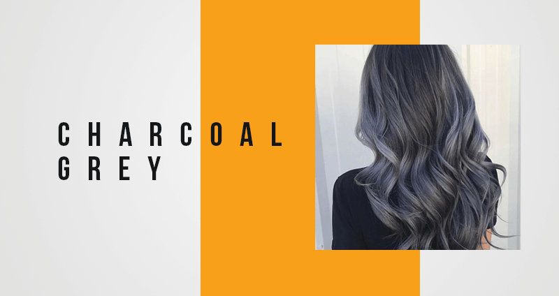 Charcoal grey hair color