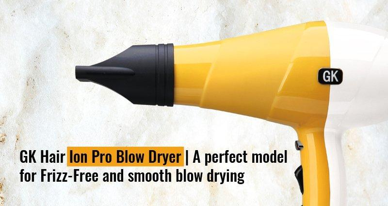 GK Hair Ion Pro Blow Dryer   A perfect model for frizz-less and smooth blow drying