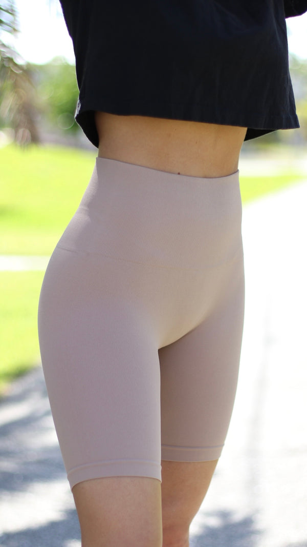 Iconic Seamless Biker Shorts - Beige