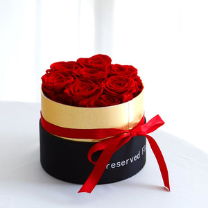 "FlowerBox ""Amour Eternel"" Moyenne - Queen Red"