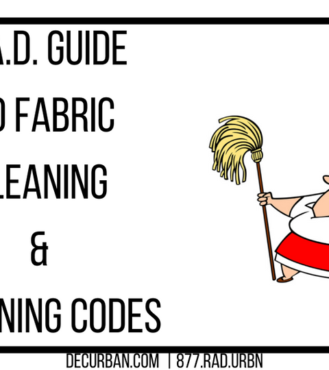 R.A.D. Guide To Fabric Cleaning & Cleaning Codes