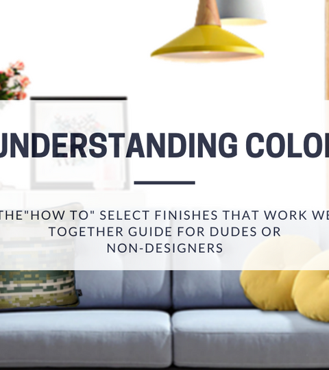 Understanding Color The How To Select Finishes That Work Well Together Guide For Dudes & Non-Designers with blue couch and Minefield pillows from Decurban