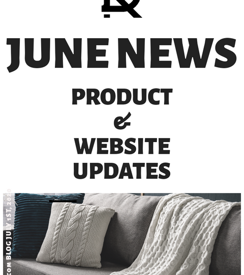 decurban.com june news blog cover imge with product & website updates on affordable home and office decor