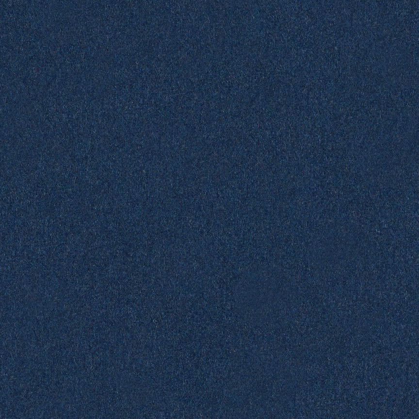 classic blue colored wool fabric by Arc-Com Hush, color Blueberry