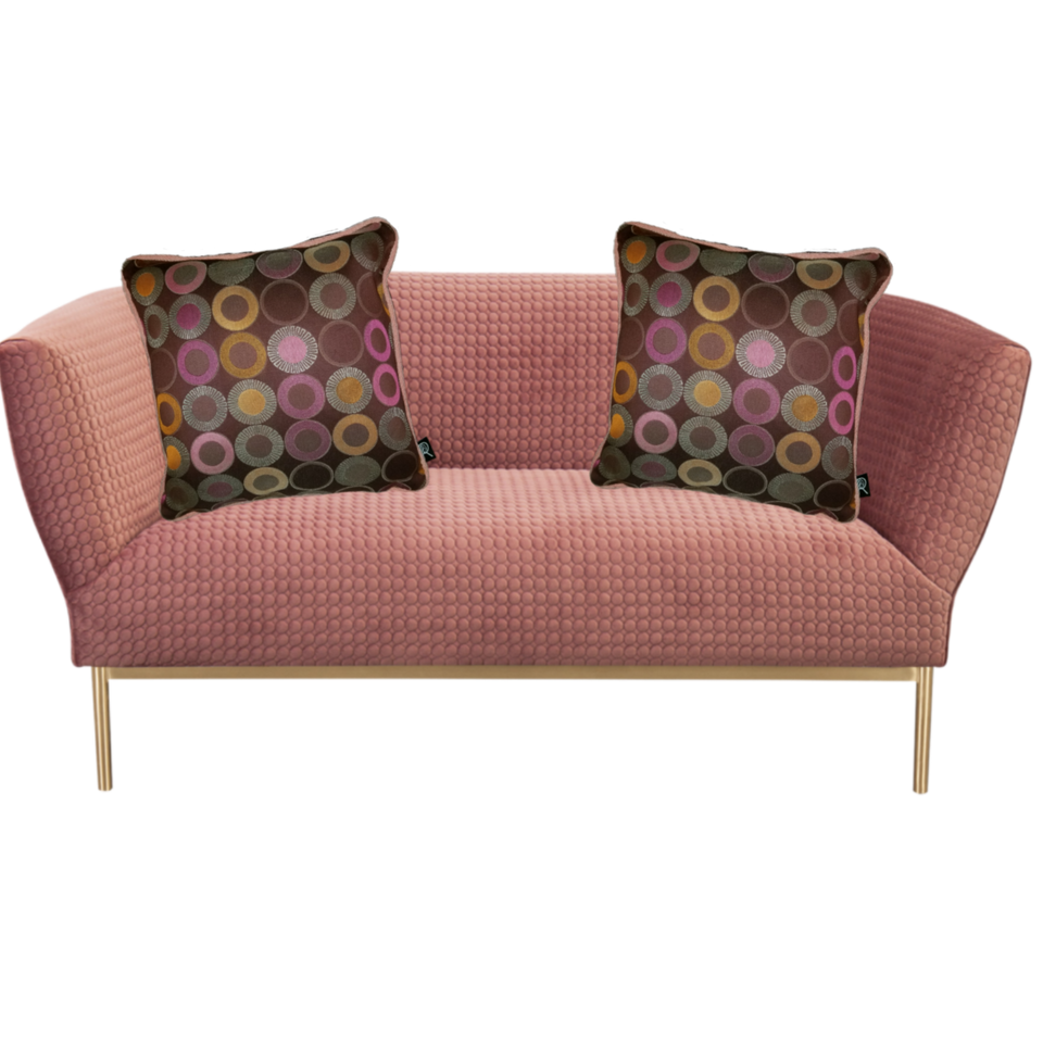 Choblush Brown pink decorative pillow cover pink sofa GEO-001